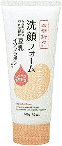 日本 熊野 四季應時 豆乳 保濕 洗面乳 200g【8098】