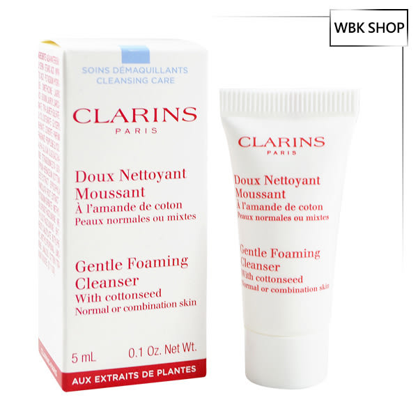 Clarins 克蘭詩 棉花籽潔顏泡泡 5ml Gentle Foaming Cleanser - WBK SHOP