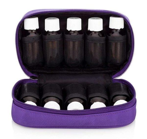 多特瑞 精油15ml 10格 精油收納包 防震包 玫紅色 藍色 紫色 黑色 美好生活居家館
