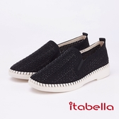 itabella.復古經典漆皮樂福鞋(9208-98黑色)