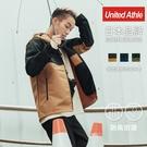 UnitedAthle 日本機能防潑防風撞色連帽外套 衝鋒外套 7489型【UA7489】單層 男女可穿