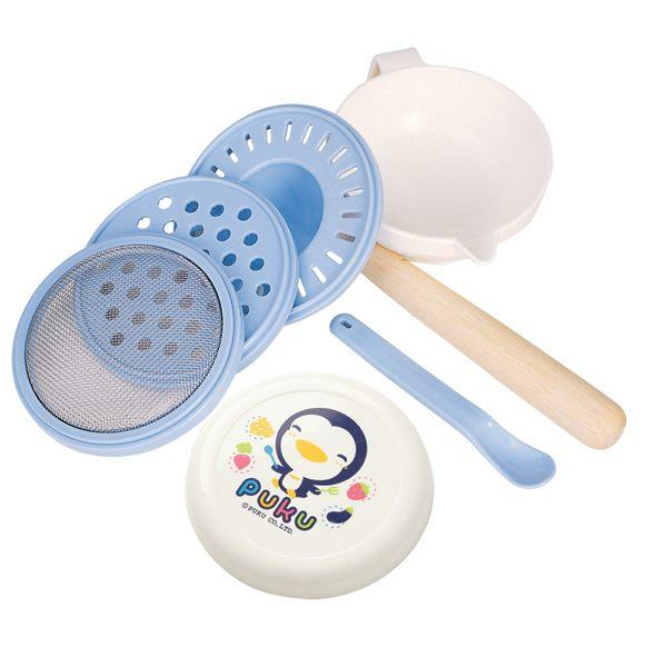 PUKU 藍色企鵝 幼兒離乳研磨器七件組 (P14101)