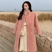 溫柔毛呢大衣女秋冬年流行赫本風中長款加厚羊羔毛呢子外套潮 雅楓居