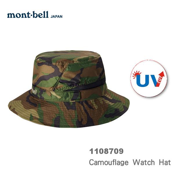 【速捷戶外】日本mont-bell 1108709 Camouflage Watch Hat 抗UV圓盤帽-中性(迷彩) , 登山帽,防曬帽,montbell