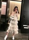 蛋糕裙 初戀白色吊帶連身裙女夏2021年新款森系超仙女溫柔風chic蛋糕裙子 寶貝寶貝計畫 上新