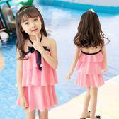 兒童泳衣女孩寶寶可愛連體游泳衣中大童公主女童裙式防曬泳裝