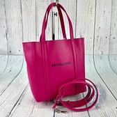 BRAND楓月 BALENCIAGA 巴黎世家 551815 桃紅色 EVERYDAY XXS 兩用包 手提包 肩背包