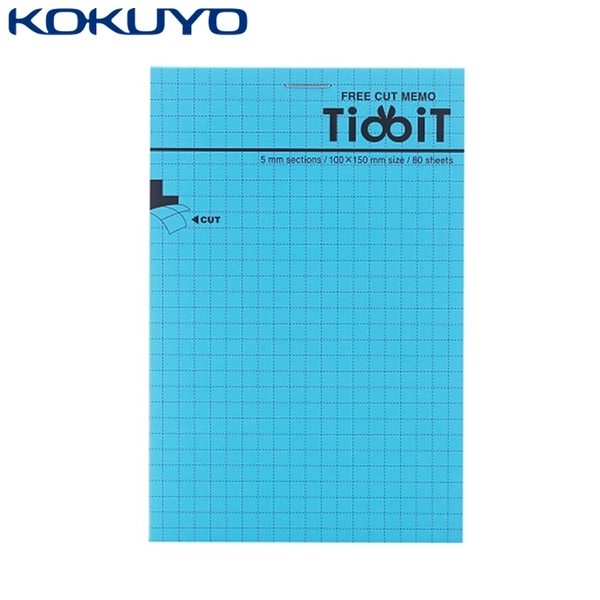 又敗家@日本KOKUYO自由撕取式便條紙TidbiT方格A6大小F32B自由切割便條紙方眼格記事本創意