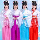 兒童古裝唐裝女童古裝仙女裝表演服古代公主古箏漢服影樓寫真服裝  無糖工作室