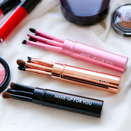金屬圓筒刷具5件組 眼影刷 眉粉刷 唇刷 遮瑕刷 化妝 彩妝 刷具組 刷子 化妝刷