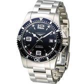 LONGINES 水鬼系列44mm 機械潛水腕錶 L38414966 藍色款 44mm