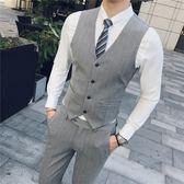 西裝馬甲2018春裝暗格紋男士馬甲商務休閒男裝背心西裝馬甲英倫職業裝婚禮 曼莎時尚