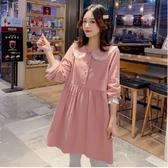 初心 韓系 蕾絲領 洋裝 【D2024】 娃娃領 蕾絲 長袖洋裝 洋裝 娃娃裝