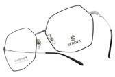 SEROVA光學眼鏡 SC071 C36 (黑-銀) 不規則潮流款 眼鏡框 #金橘眼鏡