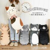 毛絨玩具 日本貓咪柔軟抱枕日式卡通毛絨可愛臥室沙發靠墊送女生節日禮物 IGO  歐萊爾藝術館