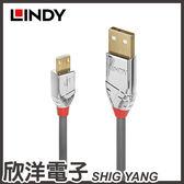 LINDY 林帝 CROMO LINE 鉻系列 USB2.0 TYPE-A/公 TO MICRO-B/公 傳輸線(36651) 1M/公尺