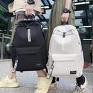 書包男初中高中學生大學生小學生雙肩包時尚潮流大容量女旅行背包 夢幻小鎮