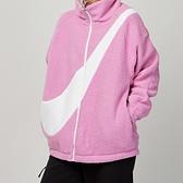 Nike NSW hoodie sherpa rev jkt 女款 粉白 羔羊毛 雙面 休閒 外套 DC5138-616