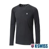 【超取】K-SWISS Performance Ls Tee涼感排汗長袖T恤-男-黑