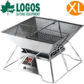 丹大戶外用品 日本【LOGOS】烤肉紅標焚火臺 XL號 型號81064101 焚火台/烤肉架/烤肉爐/營火