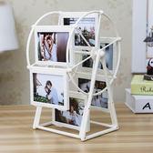 創意DIY手工定制照片風車旋轉相框擺臺相冊結婚擺件女生婦女節梗豆物語