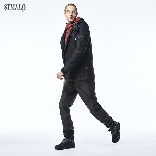 【ST.MALO】蓄熱保暖高機能男外套-1852MJ-黑曜石/紅璃色