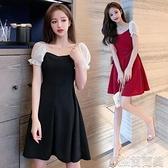 洋裝夏新款連身裙女韓版溫柔風氣質修身顯瘦A字裙子女夏仙女裙子 快速出貨