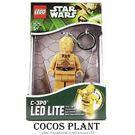 樂高鑰匙圈 星際大戰 STAR WARS C-3PO 人偶造型LED 鑰匙圈鎖圈  盒裝 COCOS LG320