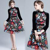 【歐風KEITH-WILL】(預購) 歐風飄逸雅緻印花洋裝