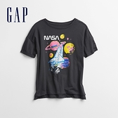 Gap女童 Gap x NASA系列印花短袖T恤 795068-灰藍色