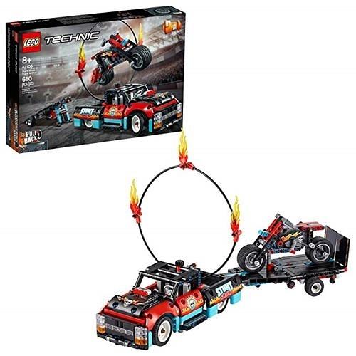 LEGO 樂高 Technic Stunt Show Truck & Bike 42106 包含特技摩托車、玩具卡車和拖車 (P10 件)