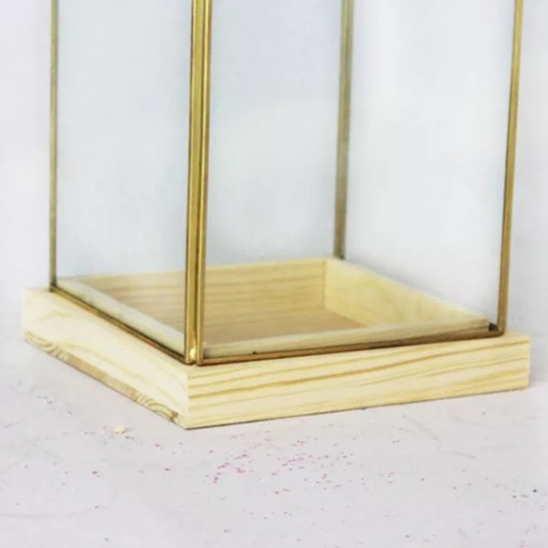 永生花玻璃花房,金色