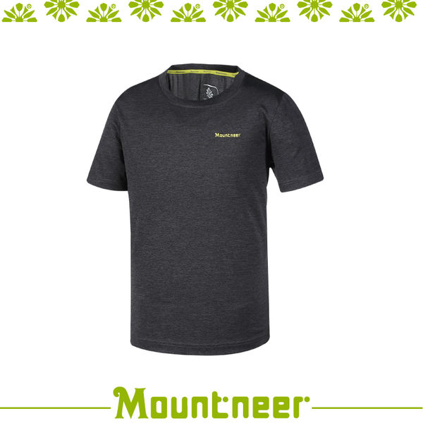【Mountneer 山林 男 抗UV圓領排汗上衣《黑色》】31P35/抗UV/UPF50+/透氣/排汗衣/上衣/休閒