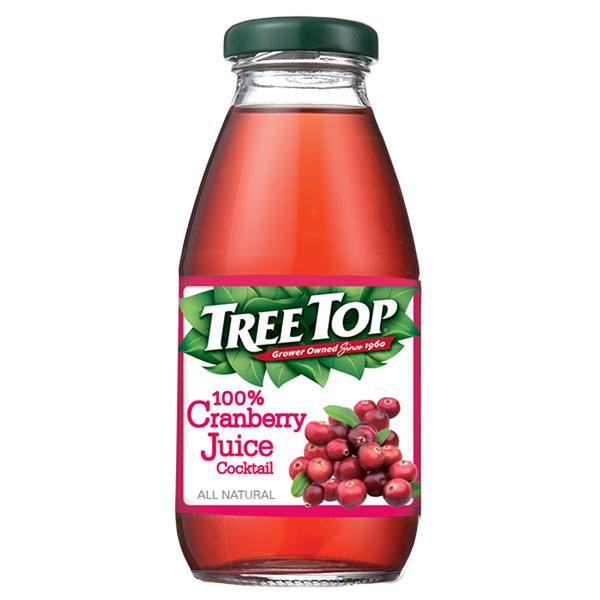 樹頂100%蔓越莓綜合果汁玻璃罐300ml*2罐 【合迷雅好物超級商城】