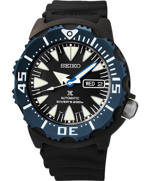 SEIKO 精工 PROSPEX 海龍潛水200米機械手錶-黑 4R36-01J0B