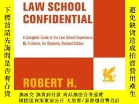 二手書博民逛書店Law罕見School Confidential (revised Edition)Y362136 Rober