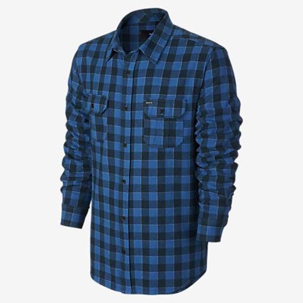 Hurley - WESTLEY LONG SLEEVE 長袖襯衫 -男(藍)