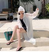 防曬衣女中長款防曬衫2018新款紅薄外套夏季韓版寬鬆外搭時尚insgogo購