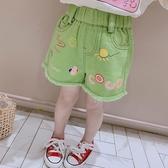短褲 2020夏季新款女童洋氣時髦牛仔褲女寶寶中小童印花韓版短褲外穿潮