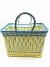 編織籃家用裝菜水果手提籃子包裝帶仿藤塑膠...
