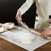帶刻度矽膠揉麵墊 擀麵墊 和麵 矽膠墊 烘焙 工具 麵包 案板 麵食【P255】米菈生活館