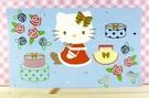 【震撼精品百貨】Hello Kitty 凱蒂貓~kitty大卡片~藍禮物