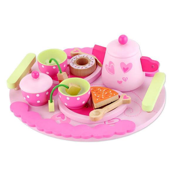 *粉粉寶貝玩具*classic world 德國經典木玩客來喜 家家酒玩具~下午茶組