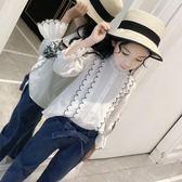 雙十二狂歡女童襯衫長袖純棉中大童上衣洋氣小衫2018新款童裝春裝兒童白襯衣【潮咖地帶】