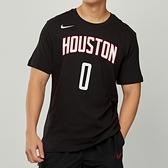 Nike NBA 男 黑 休士頓 火箭隊 Russell Westbrook 籃球 短袖 上衣 BQ1534-018