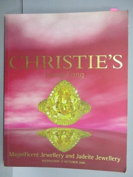 【書寶二手書T1/收藏_PFU】Christie s_Magnificent Jewellery…2001/10/31