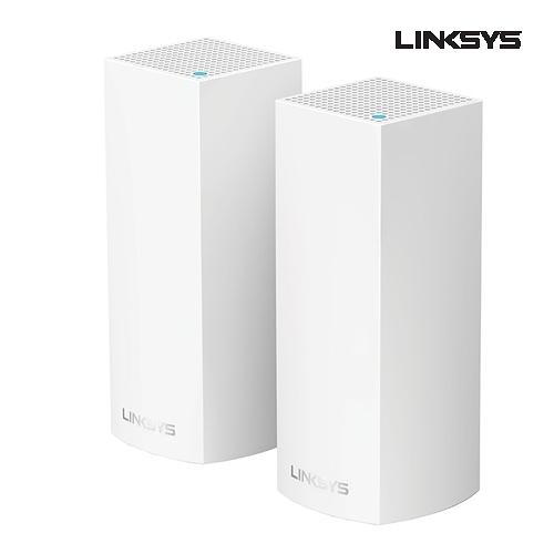 Linksys Velop AC4400 WiFi 三頻 網狀路由器 2入組 WHW0302-AH 支援MU-MIMO技術 有線Gigabit乙太網路連接埠*2