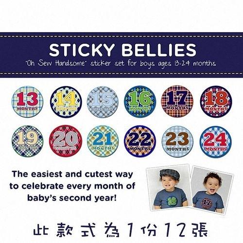 美國Sticky Bellies 寶寶月份貼紙13-24M(時尚寶寶)[衛立兒生活館]