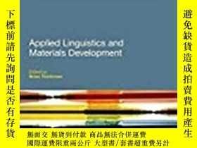 二手書博民逛書店Applied罕見Linguistics And Materials Development-應用語言學與材料開發