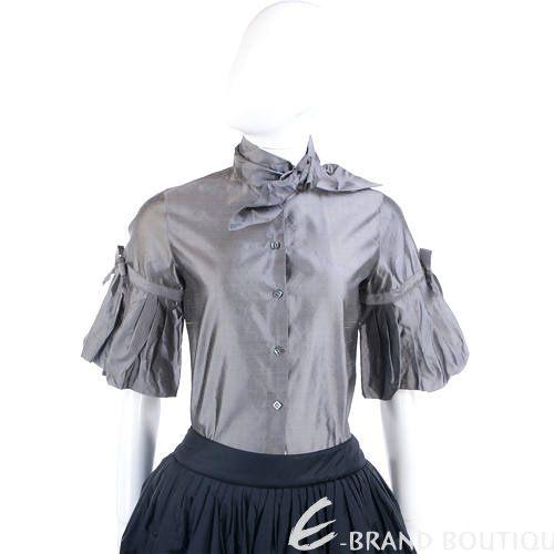 PIEIES UNIQUES 綁結膨袖款上衣(銀灰色) 0840289-06